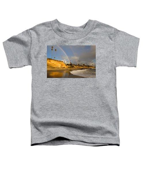 Double Raibow Over Laguna Beach Toddler T-Shirt