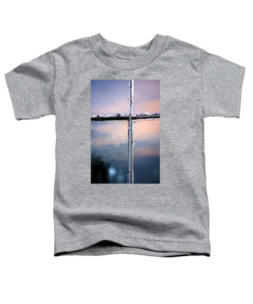 Empty Cross On The Window Of An Old Church Toddler T-Shirt