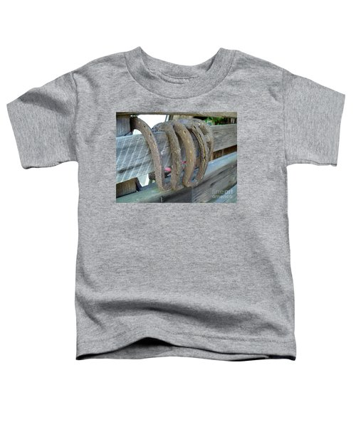 Horse Shoes Toddler T-Shirt