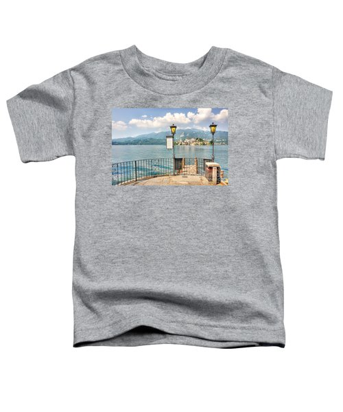 Island San Giulio On Lake Orta Toddler T-Shirt