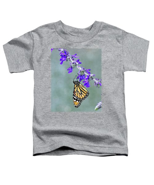 Monarch On Purple Toddler T-Shirt