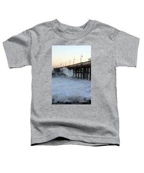 Ocean Wave Storm Pier Toddler T-Shirt