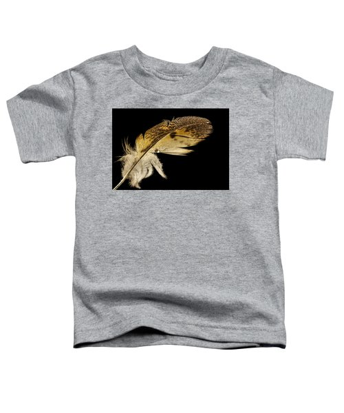 Owl Feather With Water Toddler T-Shirt
