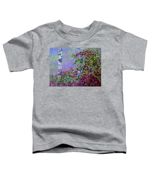 Toddler T-Shirt featuring the painting Purple Haze by Joanne Smoley