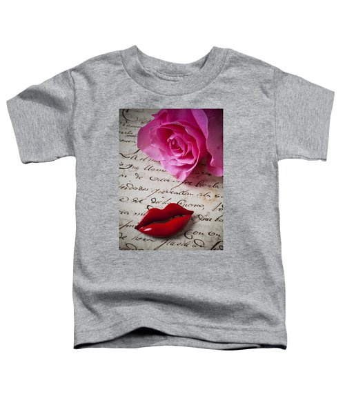 Red Lips On Letter Toddler T-Shirt