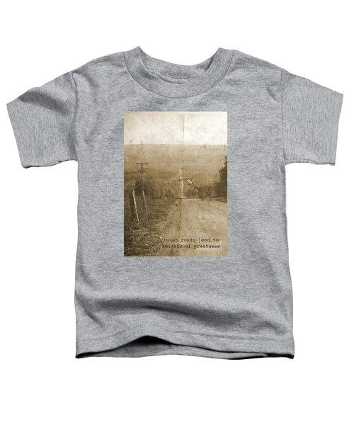 Road Not Traveled  Toddler T-Shirt