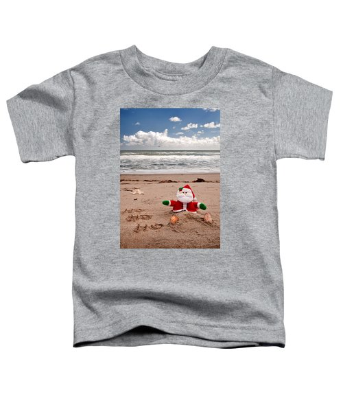 Santa At The Beach Toddler T-Shirt