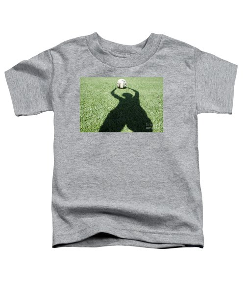 Shadow Playing Football Toddler T-Shirt