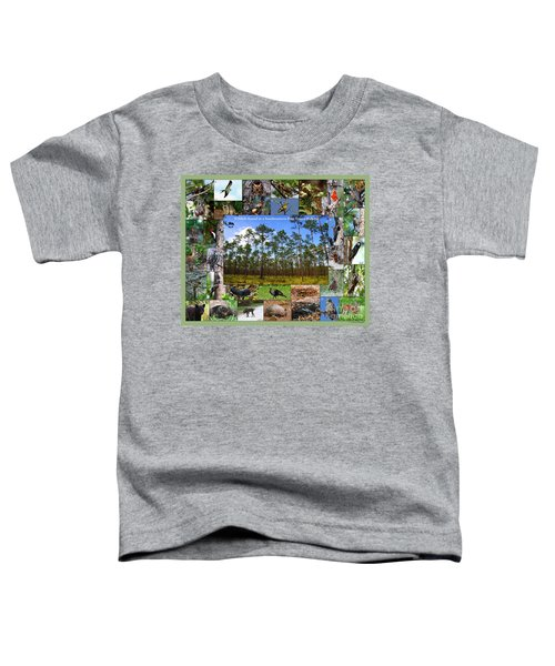 Southeastern Pine Forest Wildlife Poster Toddler T-Shirt