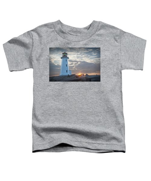 Sunrise At Peggys Cove Lighthouse In Nova Scotia Number 041 Toddler T-Shirt