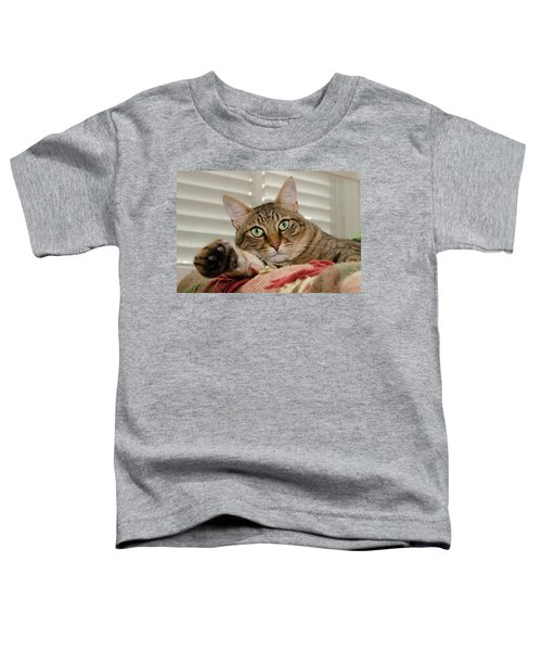The Cat With Green Eyes Toddler T-Shirt
