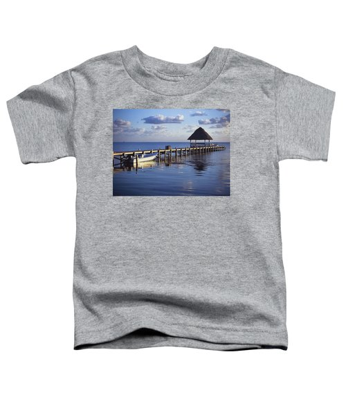 View Of The Pier Across The Water At Toddler T-Shirt