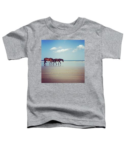 Well, This Just Happened. #wild #horses Toddler T-Shirt