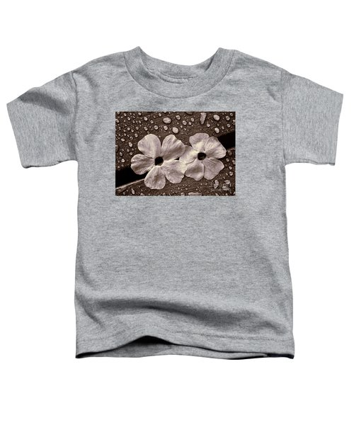 Wet Flowers And Wet Table Toddler T-Shirt