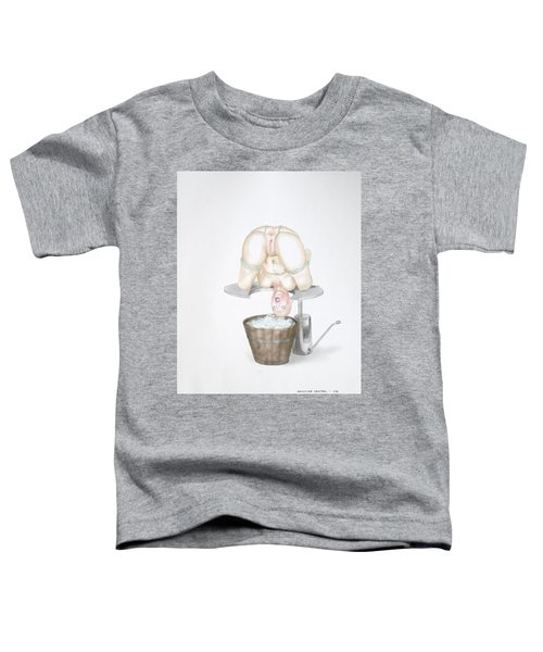 Toddler T-Shirt featuring the mixed media  Behavior Control by TortureLord Art