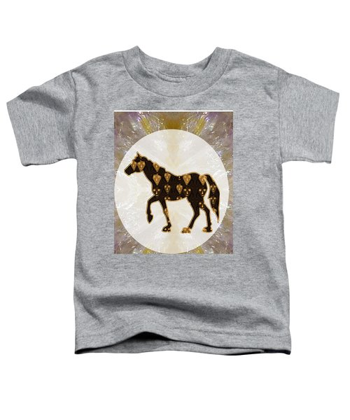 Horse Prancing Abstract Graphic Filled Cartoon Humor Faces Download Option For Personal Commercial  Toddler T-Shirt by Navin Joshi