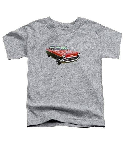 Red And Black 1957 Chevy Belair Toddler T-Shirt