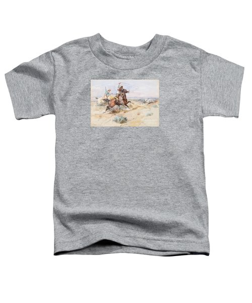 Roping A White Wolf  Toddler T-Shirt