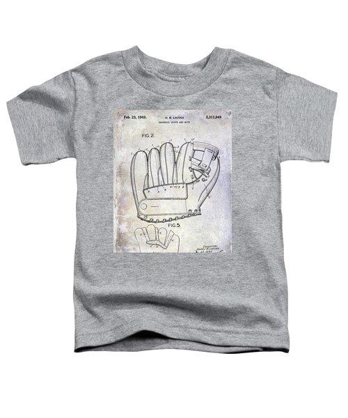1943 Baseball Glove Patent Toddler T-Shirt