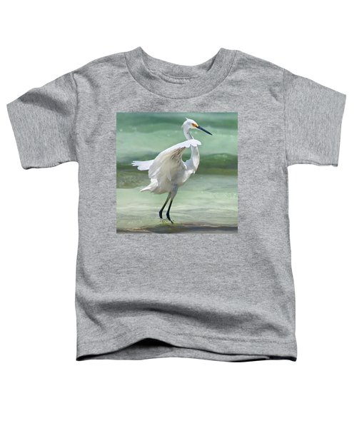 A Snowy Egret (egretta Thula) At Mahoe Toddler T-Shirt