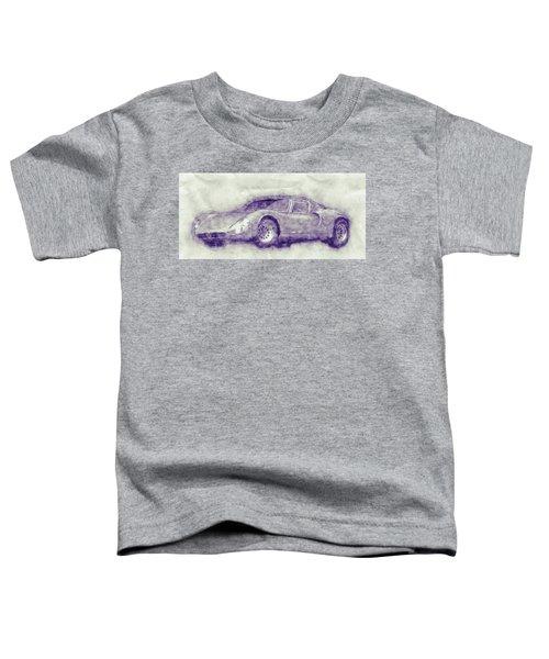 Alfa Romeo 33 Stradale 1 - 1967 - Automotive Art - Car Posters Toddler T-Shirt