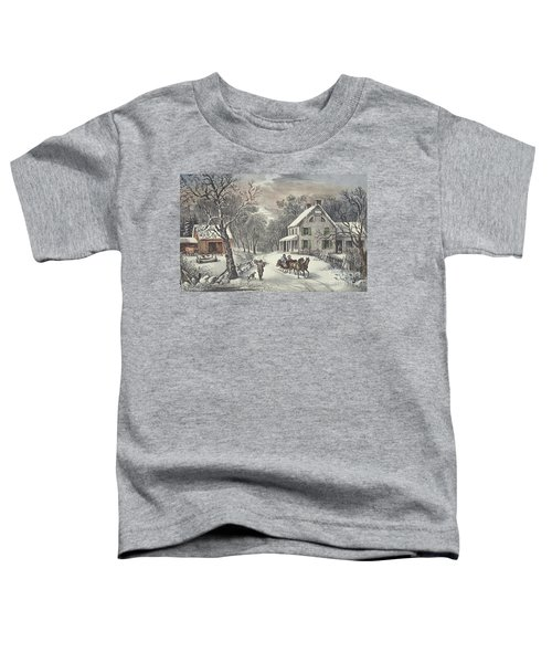 American Homestead   Winter Toddler T-Shirt