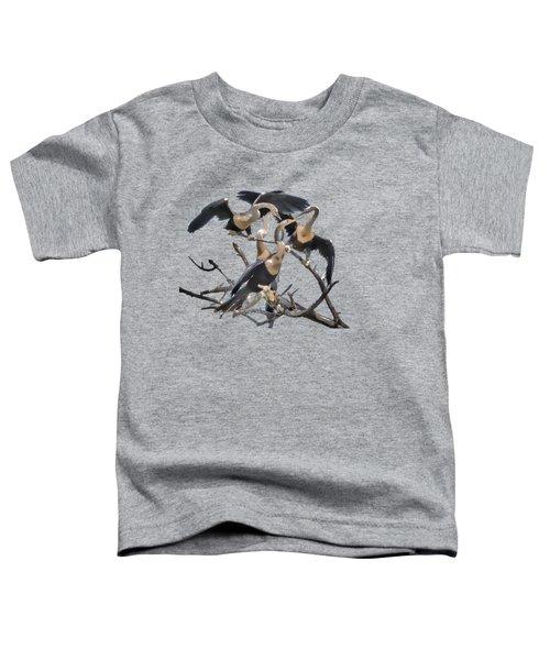 Anhinga Feeding Time Transparency Toddler T-Shirt