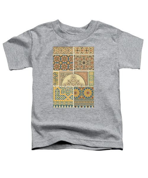Arabian-moresque, Mosaic Textile Pattern Toddler T-Shirt