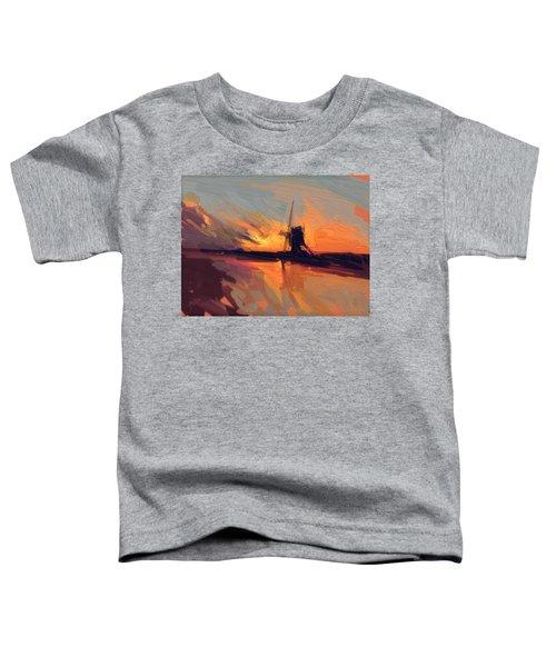 Autumn Indian Summer Windmill Holland Toddler T-Shirt by Nop Briex