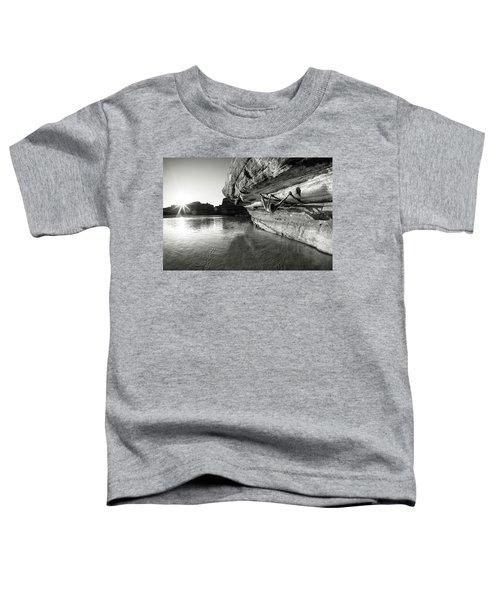 Bouldering Above River Toddler T-Shirt