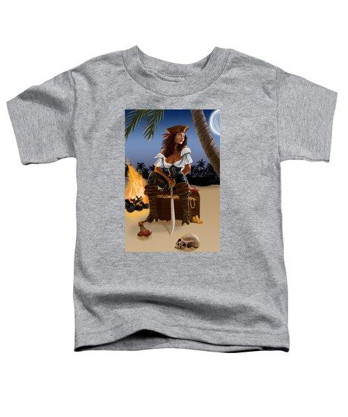 Toddler T-Shirt featuring the digital art Buckling The Swash by Doug Schramm