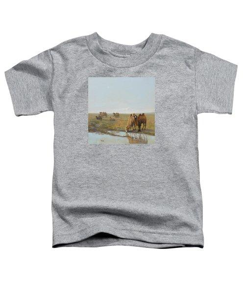 Camels Along The River Toddler T-Shirt