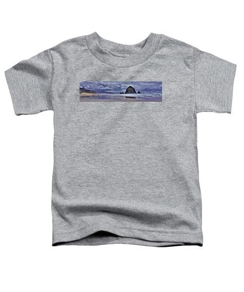 Cannon Beach Panorama Toddler T-Shirt