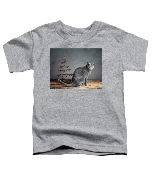 Cat Christmas Toddler T-Shirt