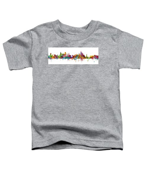 Chicago And New York City Skylines Mashup Toddler T-Shirt