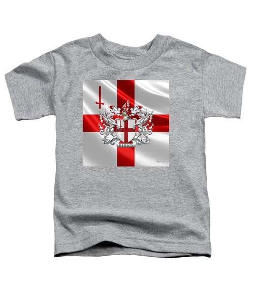 City Of London - Coat Of Arms Over Flag  Toddler T-Shirt