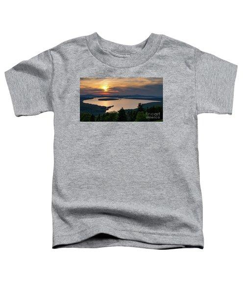 Dusk, Mooselookmeguntic Lake, Rangeley, Maine  -63362-63364 Toddler T-Shirt