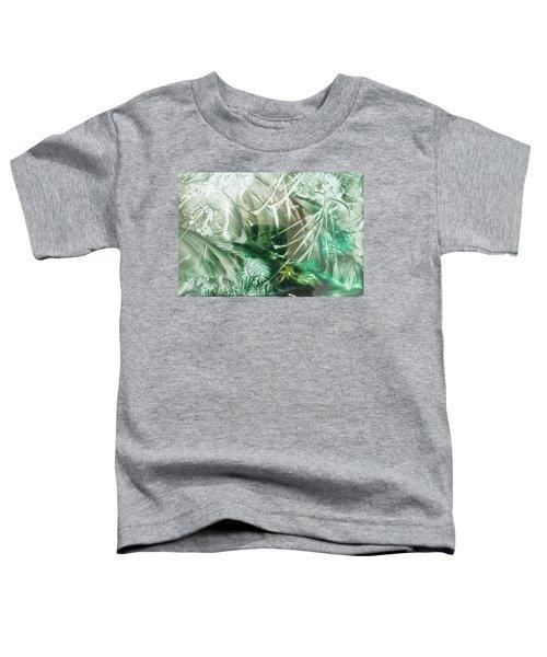 Encaustic Abstract Green Foliage Toddler T-Shirt