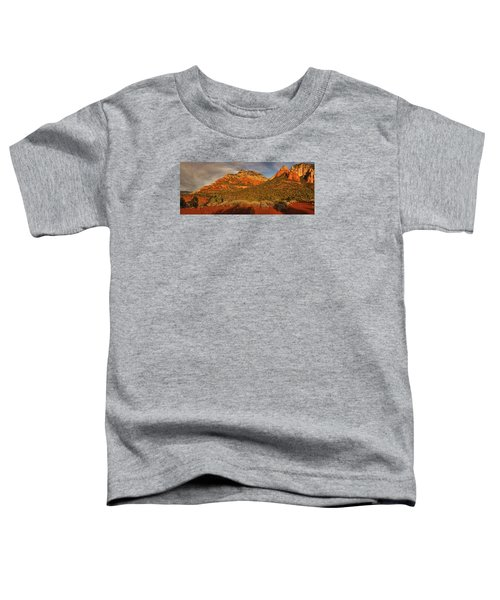 Evening Shadows Pano Txt Toddler T-Shirt