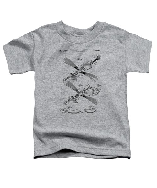 Fish Lure Patent 1933 Toddler T-Shirt by Chris Smith