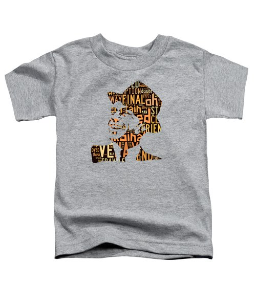 Frank Sinatra I Did It My Way Toddler T-Shirt by Marvin Blaine