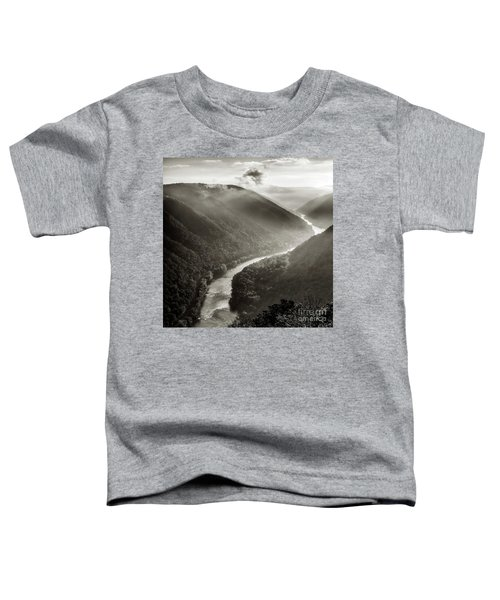Grandview In Black And White Toddler T-Shirt