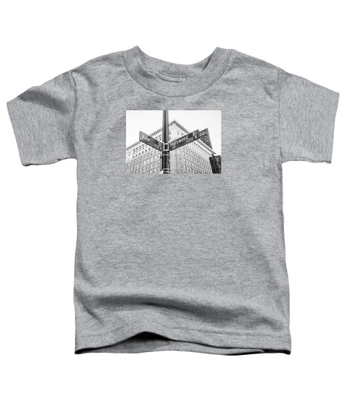 Hollywood And Vine Street Sign Toddler T-Shirt