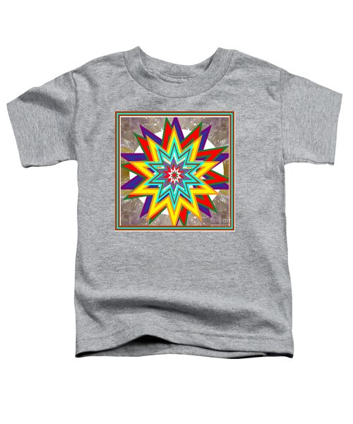 Holy Star White Purple Blue On Crystal Stone Marble Unique Shades Tones Textures Buy Wall Decoration Toddler T-Shirt by Navin Joshi