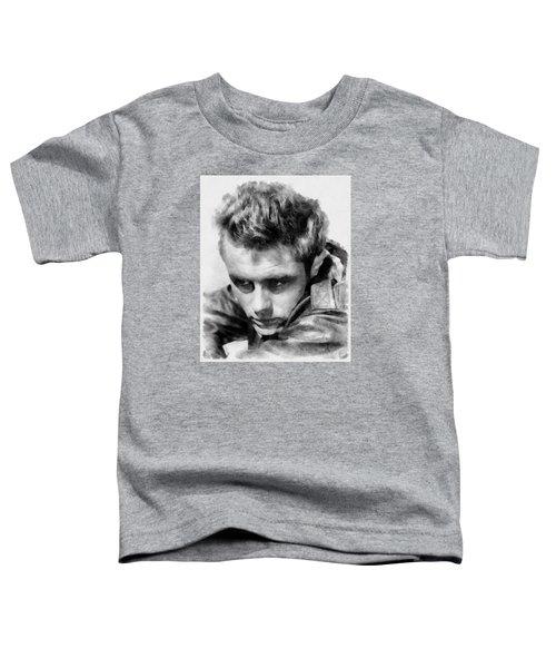 James Dean By John Springfield Toddler T-Shirt by John Springfield