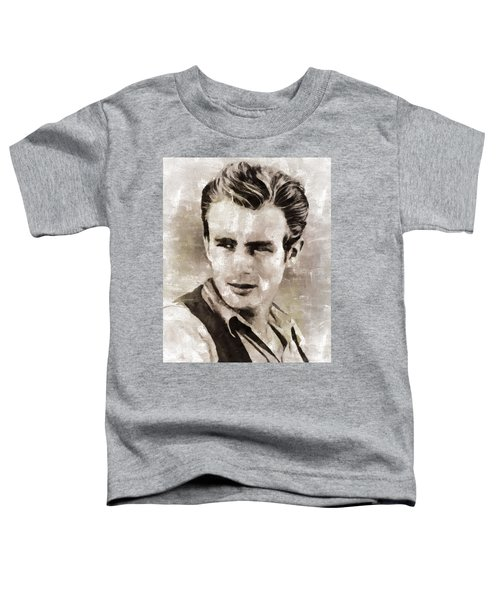 James Dean Hollywood Legend Toddler T-Shirt by Mary Bassett