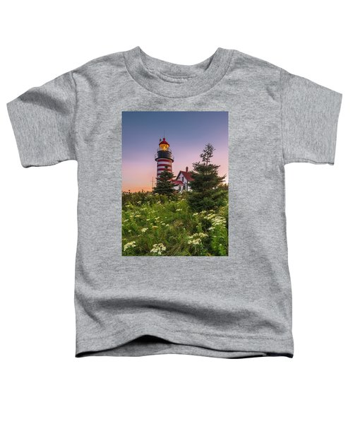 Maine West Quoddy Head Light At Sunset Toddler T-Shirt