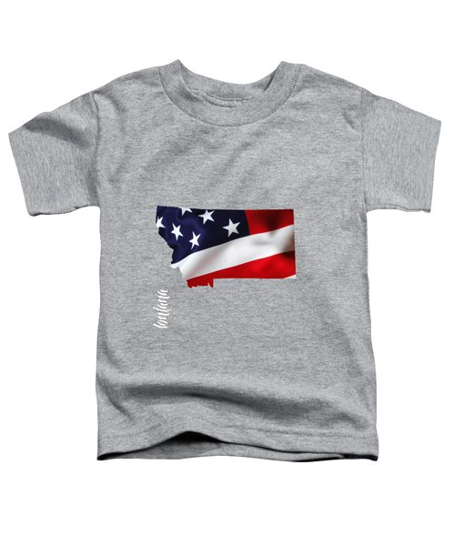 Montana State Map Collection Toddler T-Shirt