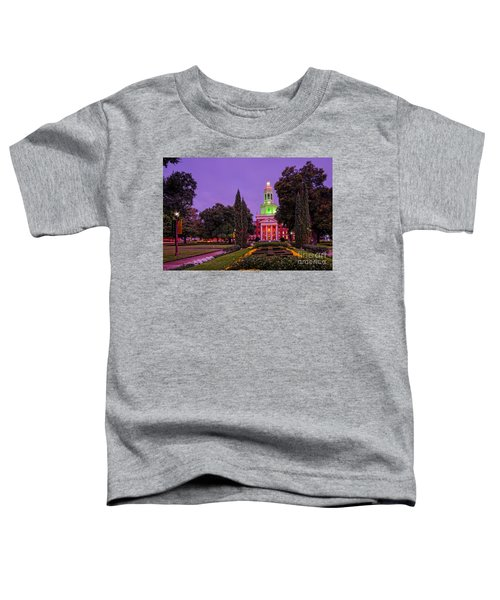 Morning Twilight Shot Of Pat Neff Hall From Founders Mall At Baylor University - Waco Central Texas Toddler T-Shirt
