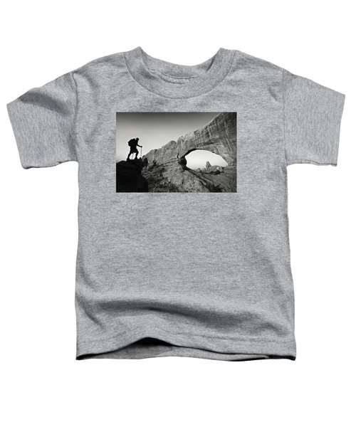 Toddler T-Shirt featuring the photograph North Window Arch by Whit Richardson